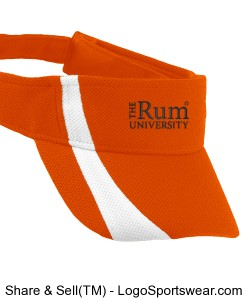 Adult Adjustable Wicking Mesh Two-Color Visor Design Zoom